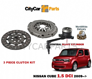 NISSAN CUBE 1.5 DCI K9K Z12 1498cc 2009 ONWARDS  CLUTCH KIT WITH SLAVE CYLINDER